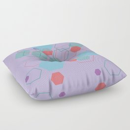 Hexagon Little Mermaid Floor Pillow