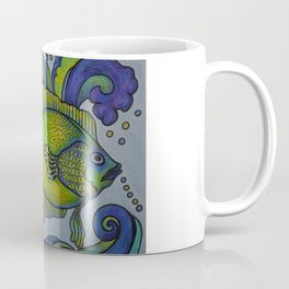 Green Fish Blue Fish Coffee Mug