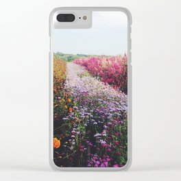 field of flowers Clear iPhone Case