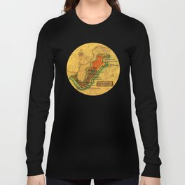 Map Mermaid Cabo de Gata Long Sleeve T-shirt