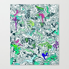 Kamasutra LOVE - Forest Green Canvas Print