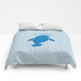 I love Manatees Comforters