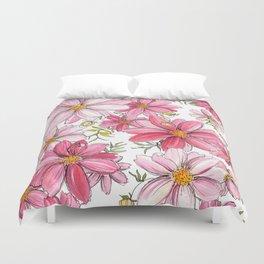 Pink Spring Flower Pattern Duvet Cover