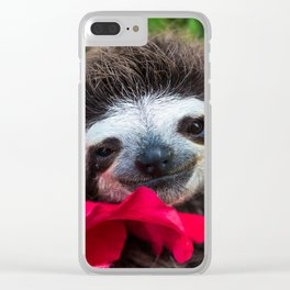 Bradypus Sloth Clear iPhone Case