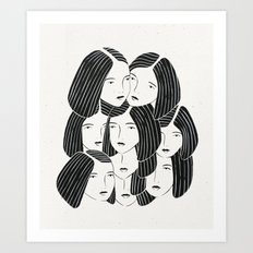 Multiple Girls Art Print