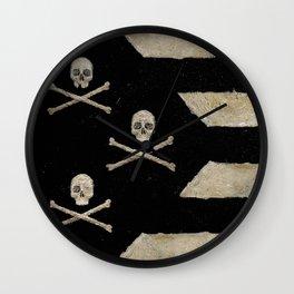 Cut Skull Flag Wall Clock
