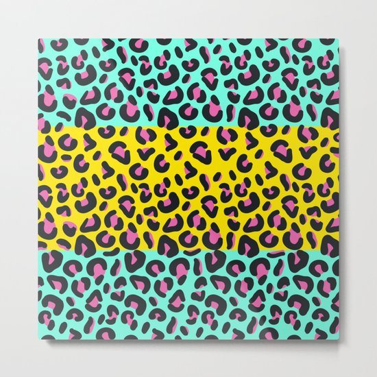 Abstract Leopard Pattern Metal Print