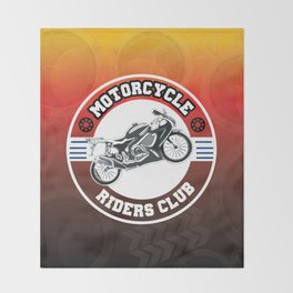 Motorcycle Riders Club Throw Blanket