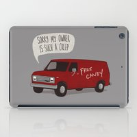 van iPad Cases featuring Creeper Van by Phil Jones