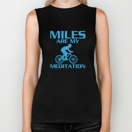 Miles are My Meditation Graphic Cycling T-shirt Biker Tank