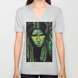 Green Girl Unisex V-Neck