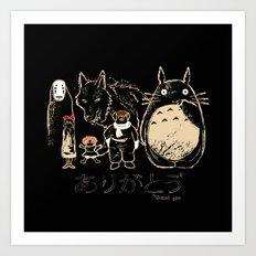 Tribute for Miyazaki Art Print