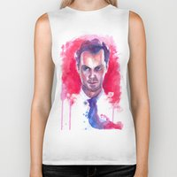 moriarty Biker Tanks featuring Jim Moriarty by Claudia Marianno