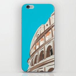 Rome, Italy Colosseum / Roma Il Colosseo, Italia Travel Poster iPhone Skin