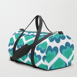 Barbara in Blue Duffle Bag
