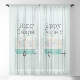 Happy Camper Minty Fresh Sheer Curtain