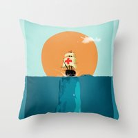 fish Throw Pillows featuring fish  by mark ashkenazi