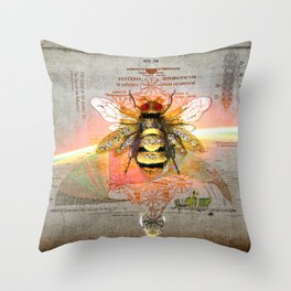 THE FLIGHT OF THE BUMBLE BEE (The Sign of Life Collection) Throw Pillow