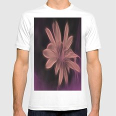 Psychedelic Flower White Mens Fitted Tee MEDIUM