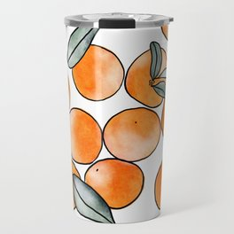 Watercolor Clementines Travel Mug