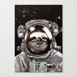 Astronaut Sloth Selfie Canvas Print