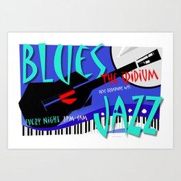 Modernist Blues / Jazz venue poster Art Print