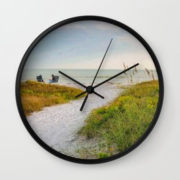 Seaside Chat Wall Clock
