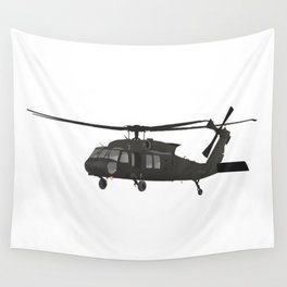 UH-60 Military Helicopter Wall Tapestry