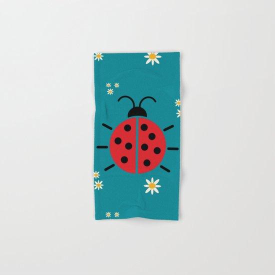 ladybug flowers Hand & Bath Towel