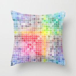 Mi paleta de colores Throw Pillow