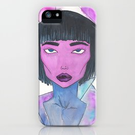 Dimensional Girl iPhone Case