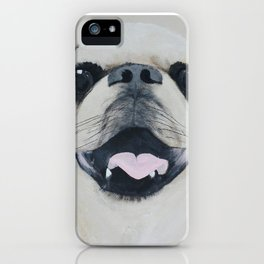 Pug Portrait - Original painting by Tracy Sayers Trombetta iPhone Case