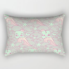 whale of a guy, whale of a girl Rectangular Pillow