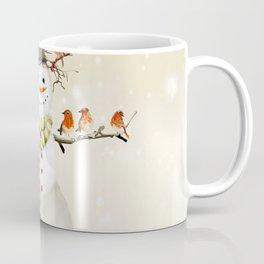 Snowman and Birds Coffee Mug