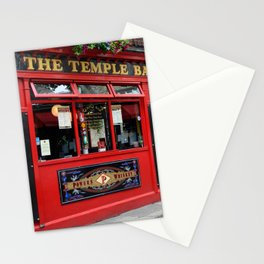 Red Temple Bar pub in Dublin Stationery Cards