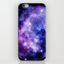 Galaxy Planet Purple Blue Space iPhone Skin
