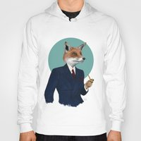 mr fox Hoodies featuring Mr. Fox by FAMOUS WHEN DEAD