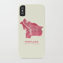Portland City Map iPhone Case