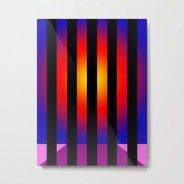Sunset stripes Metal Print