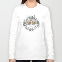 majora Long Sleeve T-shirts featuring Epic Pure Evil of Majora's Mask by Barrett Biggers