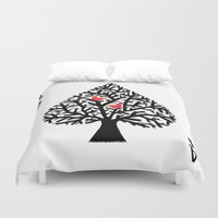 ace Duvet Covers featuring Ace of spade by Picomodi