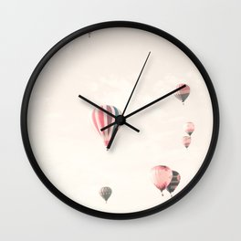 Hot Air Balloons, White Wall Clock