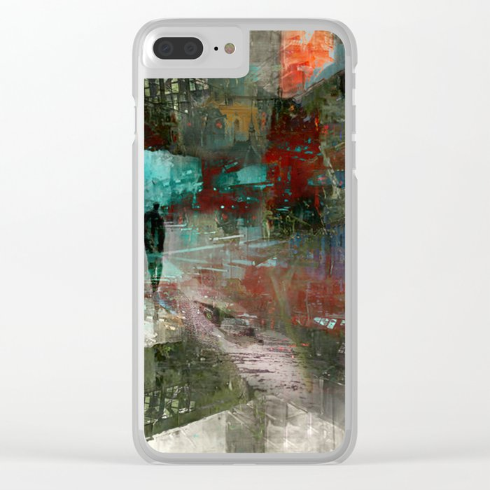 A city without you Clear iPhone Case