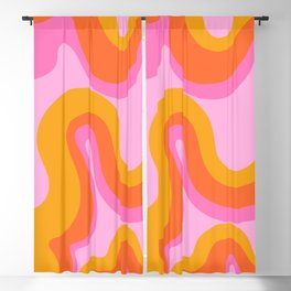 Groovy Swirl - Sunset Blackout Curtain