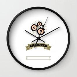 Never Dreamed I'd Be Grumpy Engineer Tradesman Wall Clock
