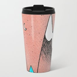 Mountain Camping Under a Red Sky Travel Mug