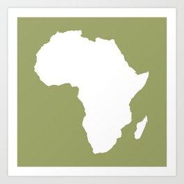 Safari Green Audacious Africa Art Print
