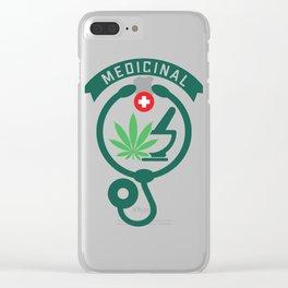 Medicinal Cannabis Sativa Clear iPhone Case