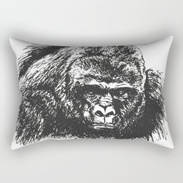 Gorilla head Rectangular Pillow