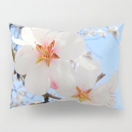 plum tree blossoms closeup Pillow Sham